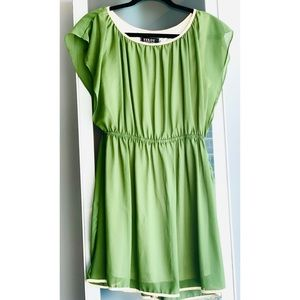 Green Summer Mini Kimono Dress